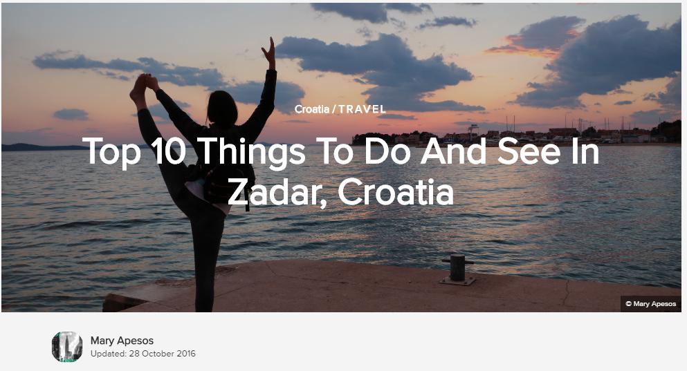zadar croatia travel