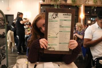 ambar DC menu