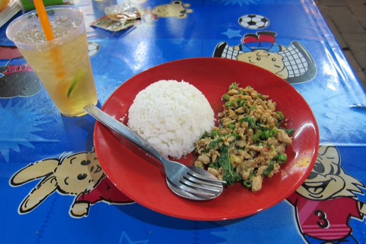 Thai Basil Chicken in Thailand